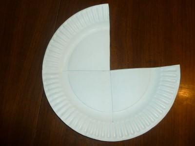 piece of plate cut