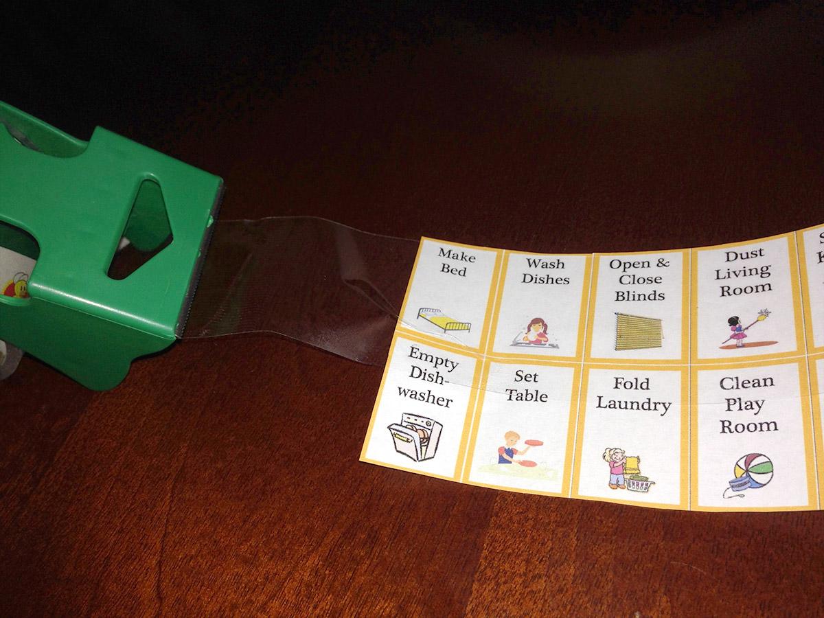 Chore Cards Laminated